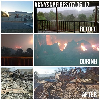 Support the rebuilding of Knysna
