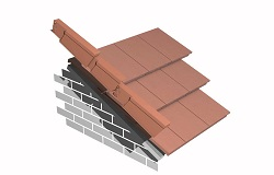 Efficient finish to tiled roofs