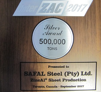 Safal Steel receives Interzac award