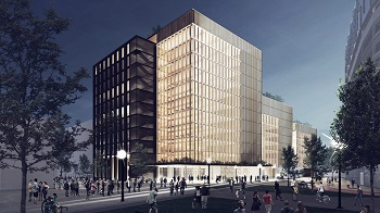 US' largest timber office building rises