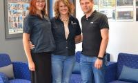 From left: Nenique van Rensburg (sales and marketing manager), Marlisé Taljaard (development manager) and Martin Croukamp (project manager) from Caliber Properties. Image: Ntsako Khosa
