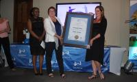 The Best Financial Institute of the Year award went to FNB Housing Finance, it was received by Marinda Barnard, head of development housing.